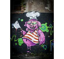 Butcher Pig Photographic Print