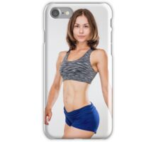 Fitness, sport, training women in sport clothing iPhone Case/Skin