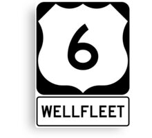 US 6 - Wellfleet Massachusetts Canvas Print