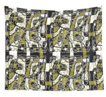 Brown abstract pattern Wall Tapestry