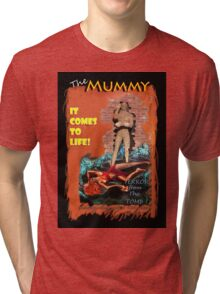 Woman in the red dress meets The Mummy Tri-blend T-Shirt