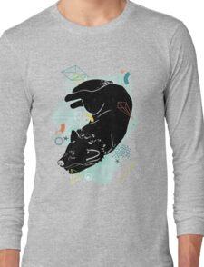 Sleeping Wolf illustration Long Sleeve T-Shirt