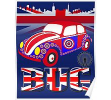 British Bug in Blue Poster