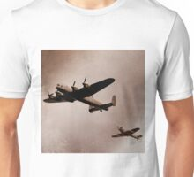 Lancaster Bomber and Spitfire Unisex T-Shirt