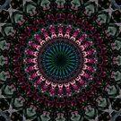 Mandala with fuchsia accets by JBlaminsky