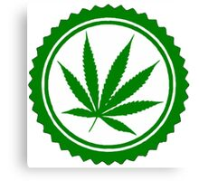 Cannabis Weed Canvas Print