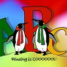Penguins and Alphabet Letters: Reading is Cool, Colorful Art by Joyce Geleynse