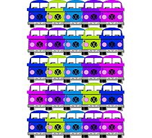 Campervan Multi Abstract No.2 Photographic Print