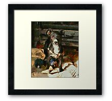 A Puppy Can Never Have Too Many Toys Framed Print