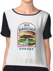 "Big ""KAHUNA"" Burger On Sesame Light Chiffon Top"