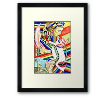 The Serpent and the Rainbow girl Framed Print