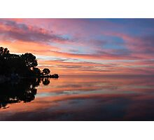 Colorful Morning Mirror - Spectacular Sky Reflections at Dawn Photographic Print