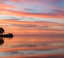 Colorful Morning Mirror - Spectacular Sky Reflections at Dawn Sticker