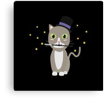 Magic Cat with stars   Canvas Print