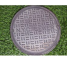 NYC sewer Photographic Print