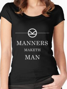 Manners Maketh Man - White Women's Fitted Scoop T-Shirt