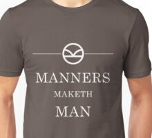 Manners Maketh Man - White Unisex T-Shirt
