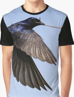 Purple Martin in Flight Graphic T-Shirt