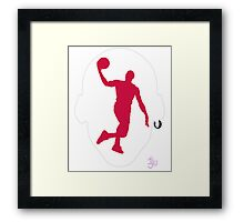 Basketball Icon Dunk CHI1 Framed Print