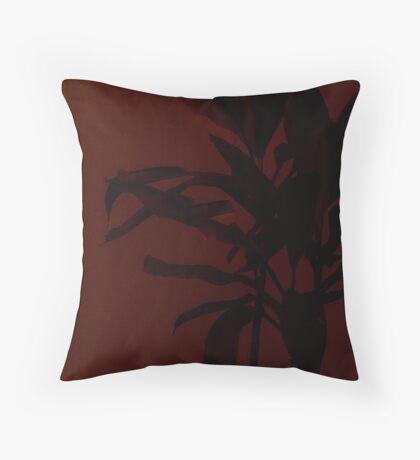 Dark flower Throw Pillow