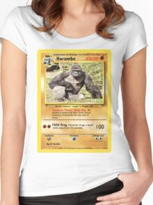 Harambe Pokemon Card Women's Fitted Scoop T-Shirt