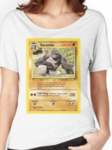 Harambe Pokemon Card Women's Relaxed Fit T-Shirt