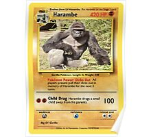 Harambe Pokemon Card Poster