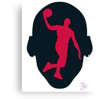 Basketball Icon Dunk CHI3 Canvas Print