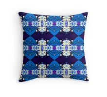 Blue Butterfly (VNS.2) Throw Pillow