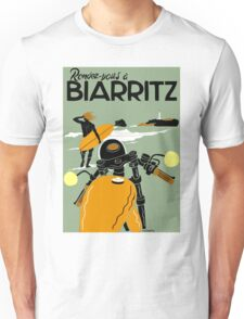 """BIARRITZ"" Vintage Travel Advertising Print Unisex T-Shirt"