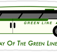 By Way of the Green Line Bus (stickers) Sticker