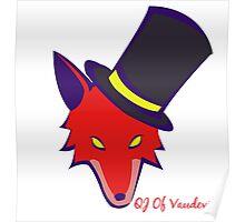 """Vaudeville Coyote"" Apparel Poster"