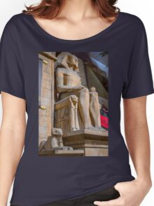 USA. Nevada. Las Vegas. Luxor. Sculpture of Pharaoh. Women's Relaxed Fit T-Shirt