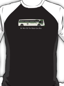 By Way of the Green Line Bus T-Shirt