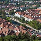 City of Ljubljana, Slovenia. by FER737NG