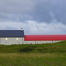 The Red Roofed Barn by Fara