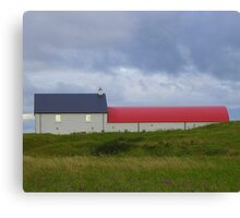 The Red Roofed Barn Canvas Print