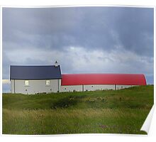 The Red Roofed Barn Poster