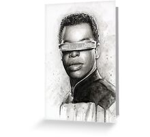 Geordi La Forge Portrait Star Trek Art Greeting Card