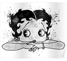 Betty Boop Watercolor Art  Poster
