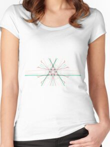 Psychedelic Geometry Women's Fitted Scoop T-Shirt