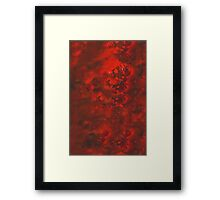Red and Black Mystery Framed Print