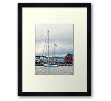 Sailing at Copenhagen Framed Print