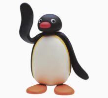 pingu waving Kids Clothes