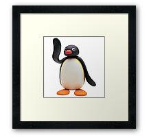 pingu waving Framed Print