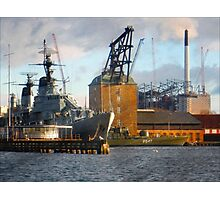 Ships at Holmen Copenhagen Photographic Print