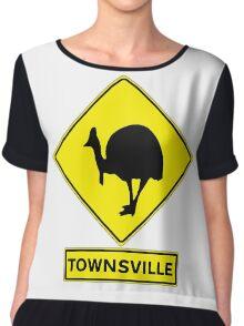 TOWNSVILLE - QUEENSLAND, AUSTRALIA, CASSOWARY! Chiffon Top
