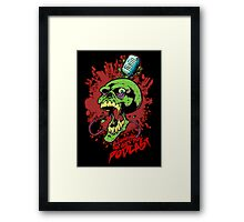 Coming to get you podcast Framed Print