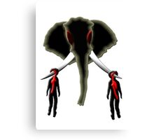 the poacher & the buyer Canvas Print