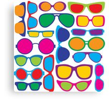 Eyeglasses Pattern Canvas Print
